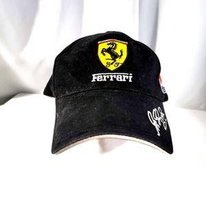 Ferrari Marbolo Racing Hat; Hook and Loop strap